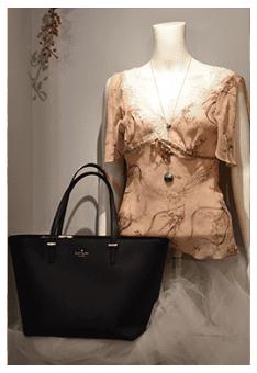 Blouse and handbag