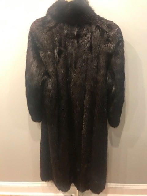 Beaver Fur Coat Back
