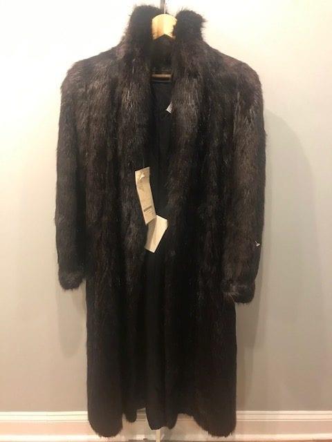 Beaver Fur Coat Front
