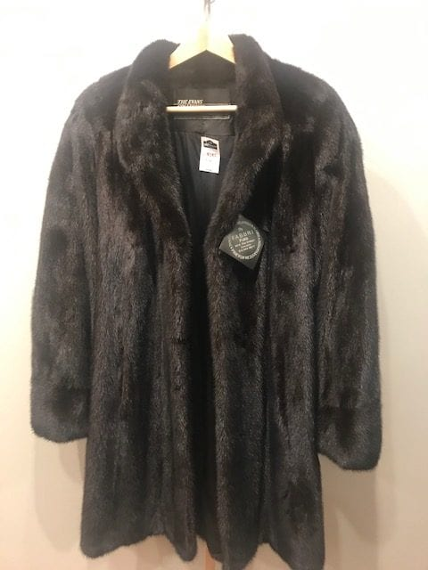 Black Mink Fur Coat Front